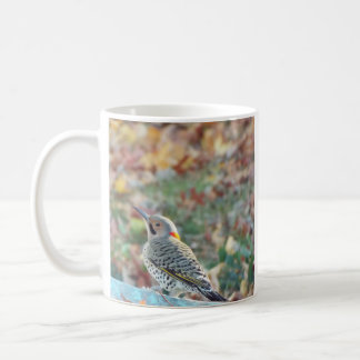 autumn woodpecker coffee mug