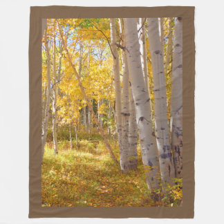 Autumn Woods Lap Warmer Fleece Blanket