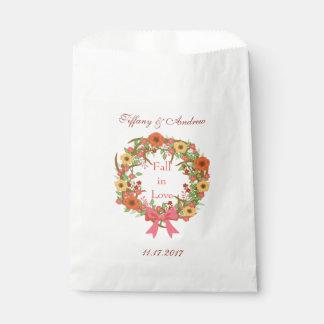 Autumn Wreath Fall in Love Favour Bag