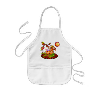 Autumn Zebra Pixel Art Kids Apron