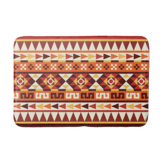 Autumnal Colors Aztec Pattern Bathroom Mat