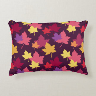Autumnal Colors Fall Leaves Pattern Decorative Pillow