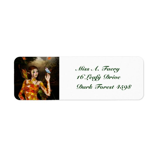 Autumnal Fae Return Address Labels