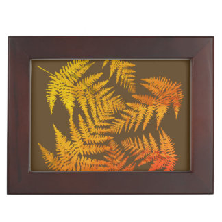 Autumnal ferns. memory boxes