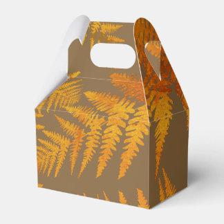 Autumnal ferns. party favor box