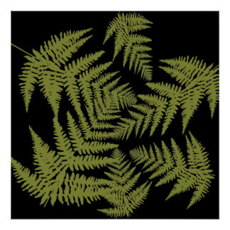 Autumnal ferns. poster