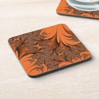 Autumnal Fractal Beverage Coaster