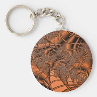 Autumnal Fractals Basic Round Button Keychain
