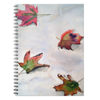 Autumnal leaves of Saratoga Spiral Notebook