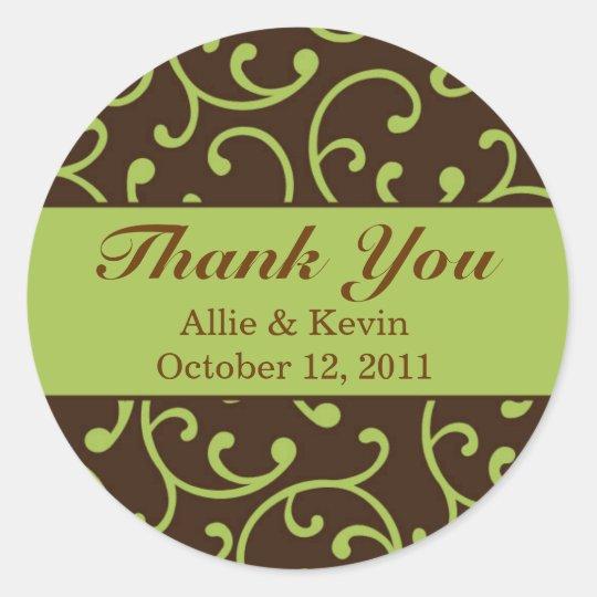 Autumnal Scrolls Customizable Wedding Stickers