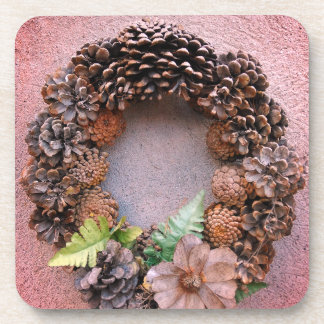 Autumnal Wreath Still Life Coaster