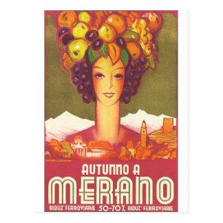 Autumno A Merano Vintage Travel Poster Postcard