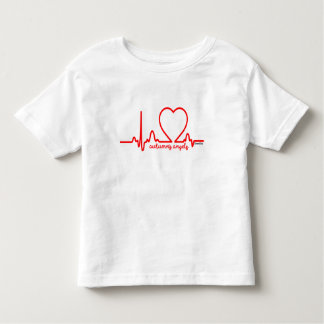 Autumn's Angels Support Heart Disease Heartbeat 4t Toddler T-shirt