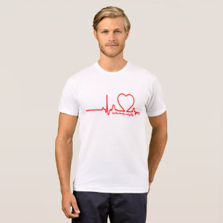 Autumn's Angels Support Heart Disease Heartbeat 72 T-Shirt