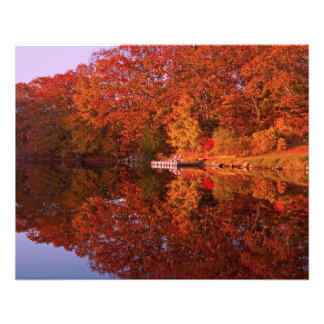 Autumn's Reflection Photo Print