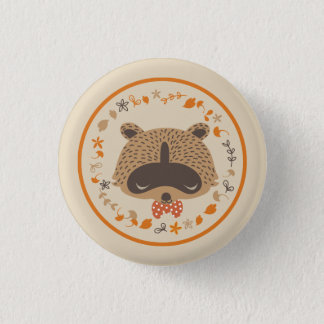 Autunm raccoon button