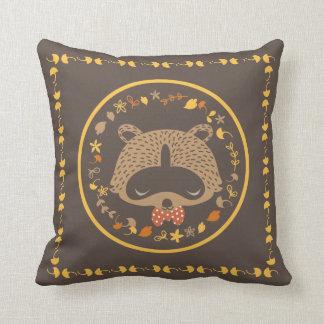 Autunm raccoon pillow