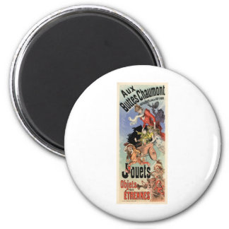Aux Buttes Chaumont 2 Inch Round Magnet
