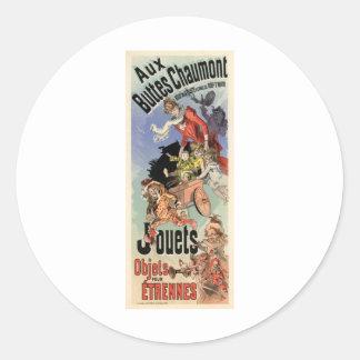 Aux Buttes Chaumont Classic Round Sticker