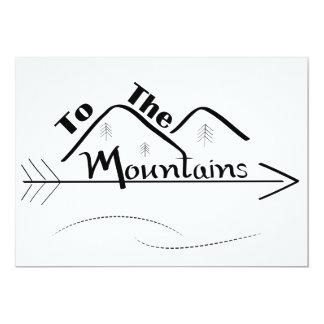 Aux cartes de montagnes (avec des remous) carton d'invitation  12,7 cm x 17,78 cm
