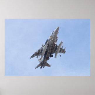 AV8B Harrier Banking Poster