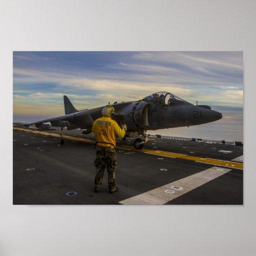 AV-8B Harrier assigned to the USS Boxer Posters