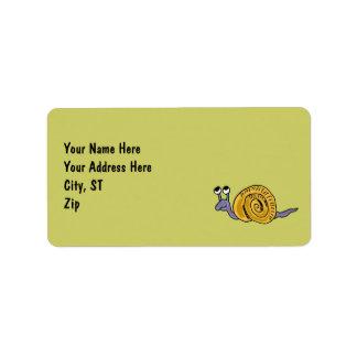 AV- Funny Snail Address Labels