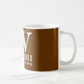 AV Still Going Strong in white distressed Coffee Mug