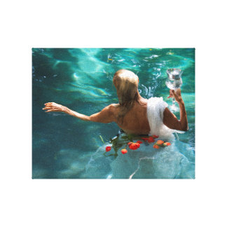 Ava as the Queen of Cups Stretched Canvas Print