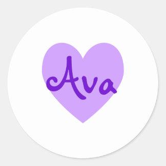 Ava in Purple Classic Round Sticker