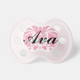 """""""Ava"""" Personalized Damask Pacifier"""
