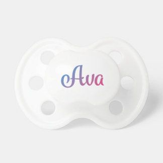 Ava Stylish Cursive Pacifier