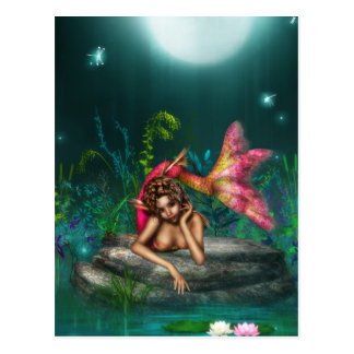 Ava the Pink Mermaid Postcard