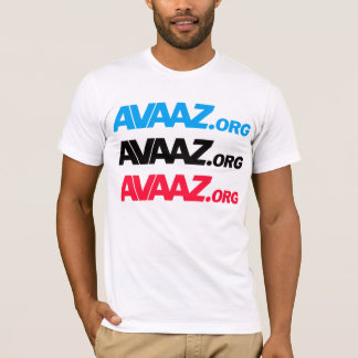 Avaaz - 3 color front, Pangea & Tagline Back T-Shirt