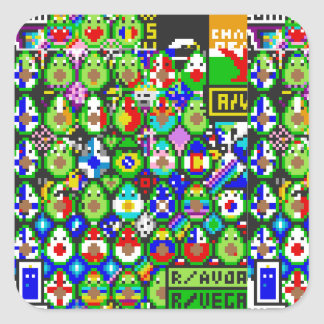 Avacado Art from /r/place Square Sticker