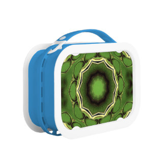 Avacado green with black color pattern lunchboxes