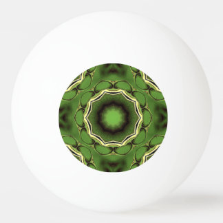 Avacado green with black color pattern ping pong ball