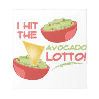 Avacado Lotto Notepad