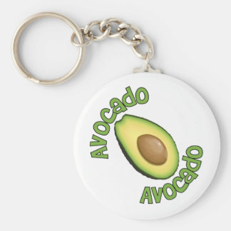 Avacodo Avacado Basic Round Button Keychain