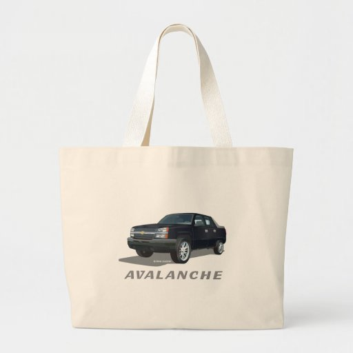Avalanche Black Canvas Bags
