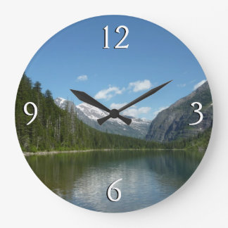 Avalanche Lake I in Glacier National Park Large Clock