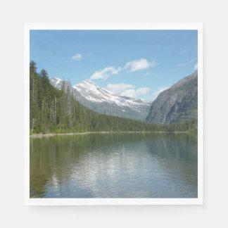 Avalanche Lake I in Glacier National Park Paper Napkin