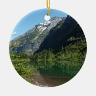 Avalanche Lake II in Glacier National Park Ceramic Ornament