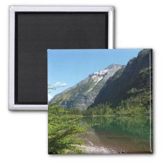 Avalanche Lake II in Glacier National Park Square Magnet