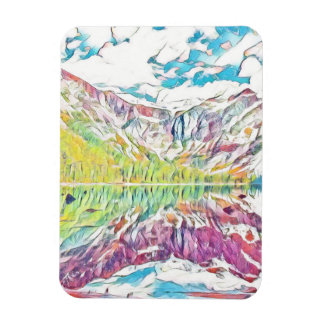 Avalanche Lake in abstract watercolor Magnet
