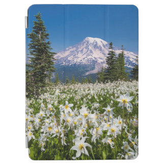 Avalanche lilies and Mount Rainier 2 iPad Air Cover