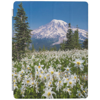 Avalanche lilies and Mount Rainier 2 iPad Cover
