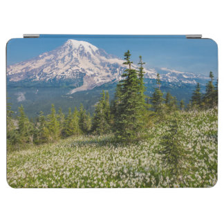 Avalanche lilies and Mount Rainier iPad Air Cover