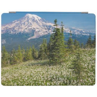 Avalanche lilies and Mount Rainier iPad Cover