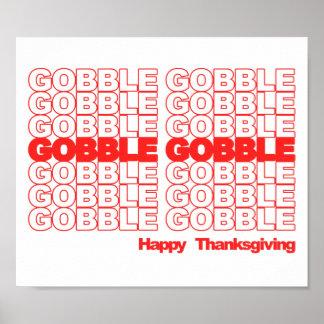 Avalez avalent le rétro thanksgiving affiches